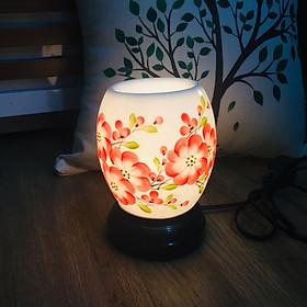 Đèn Xông Tinh Dầu Họa tiết hoa