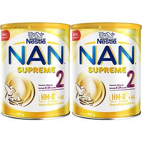 Bộ 2 Sữa Bột Nestlé Nan Supreme 2 Lon 800G (Công Thức Bổ Sung 2HM-O)
