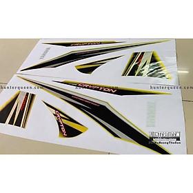 Tem dán dành cho xe máy Exciter 2006, crypton, vàng bạc nền xám