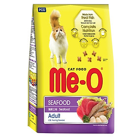 Đồ Ăn Cho Mèo Trưởng Thành Me-O Hương Vị Hải Sản (450g)