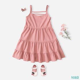 Váy Bé Gái Dáng Xòe 5 Màu 2 Dây Xinh Xắn BELLO LAND