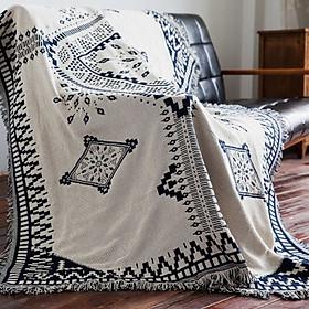 Chăn thảm phủ ghế sofa phối hợp làm thảm trải sàn kim cương