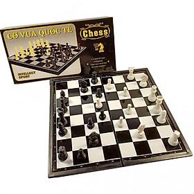 Bộ cờ vua nam châm 25cm x 25cm hộp đen