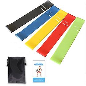 Bộ 5 dây đàn hồi tập gym, dây đàn hồi kháng lực cao cấp, dây đàn hồi tập thể dục tại nhà cho nam và nữ