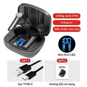 Tai nghe Bluetooth 5.0 không dây Bluetooth chống nước Tai nghe âm thanh nổi TWS - Hàng Chính Hãng PKCB