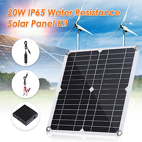 20W D C 9V/18V Flexible Solar Panel with 50A L-ED Display Controller Kit Set with USB/ Type C Interface & Car C-harger