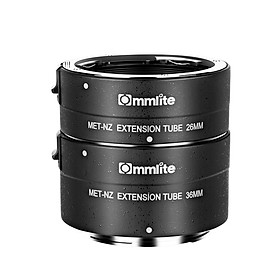Commlite CM-MET-NZ Automatic Macro Extension Tube 26mm+36mm Replacement for Nikon Z6/Z7/Z50/Z7II/Z6II Z-Mount Camera