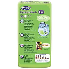 Tã Quần Drypers ClassicPantz Gói Đại XXL36 (36 Miếng) + Tặng 1 Gói Cùng Loại-1