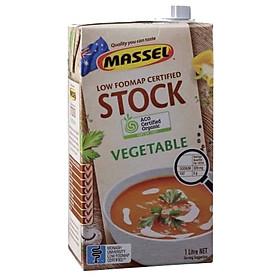 Nước Dùng Gia Vị Rau Củ Massel Organic Stock Chicken Style - Nước Dashi Rau Củ Từ Nguyên Liệu Hữu Cơ, Không Bột Ngọt - Hộp 1 lít - Thích hợp ăn chay, ăn mặn, bé ăn dặm