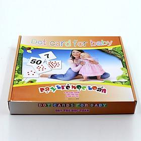 Bộ Dạy Trẻ Học Toán - DOT Card For Baby Học Liệu Glenn Doman Cao Cấp
