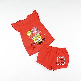 Bộ bé gái áo cánh tiên và quần bí in hình từ 8 đến 18 kg 04202-04197