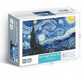 Bộ Tranh Ghép Xếp Hình 1000 Chi Tiết Van Gogh Starry Sky Thú Vị Cao Cấp