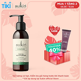 Kem dưỡng ẩm dành cho da mặt Sukin Facial Moisturiser 125ml