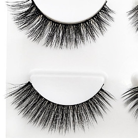 SHIDISHANGPIN 3 Pairs Mink Eyelashes 3D False Lashes Mix Style Thick Makeup Eyelash Extension Natural Volume Soft Fake Eye Lashes