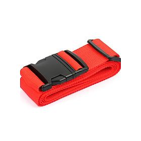 Dây đai vali đơn đỏ thẻ tên 2m
