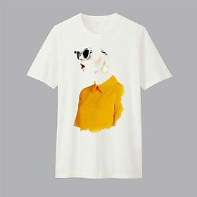 Áo T-shirt Trẻ Em Girl In Yellow Top Dotilo HU017 - Trắng