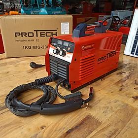 Máy hàn mig Protech 200i chính hãng dùng cuộn dây hàn 1kg - Tặng : kính hàn điện tử, cuộn dây hàn mig, bao tay da bò 2 lớp, ke gốc nam châm - giao màu ngẫu nhiên