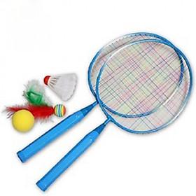 Bộ 2 vợt cầu lông hình thú ngộ nghĩnh cho bé tặng kèm 2 quả cầu (Giao ngẫu nhiên)