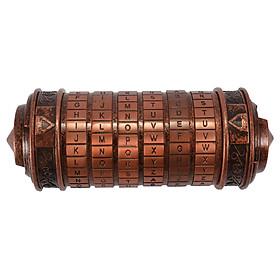 Hộp Quà Khóa Mật Mã Chữ Da Vinci Cổ Điển