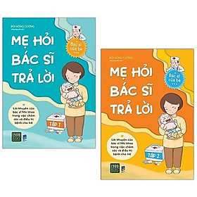 Sách - Combo 2 cuốn sách Mẹ Hỏi Bác Sĩ Trả Lời tập 1, Mẹ Hỏi Bác Sĩ Trả Lời tập 2