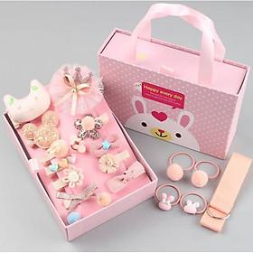 Hộp kẹp tóc cho bé - Màu cam (Quà tặng đáng yêu cho bé gái) - kèm hộp có quai xách- Hàng Chính Hãng