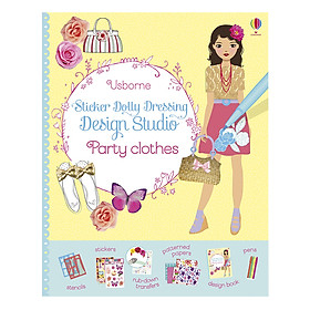 Usborne Sticker Dolly Dressing Design Studio Party Clothes