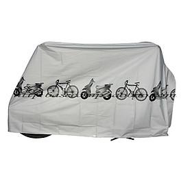 Áo trùm xe máy, bạt trùm xe máy, xe đạp chống mưa 210 x 100 cm+ Tặng quà hình dán ngẫu nhiên