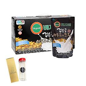 Lốc 20 túi Sữa đậu đen, hạnh nhân và óc chó Vegemil 190ml - Tặng 1 bình nước 500ml