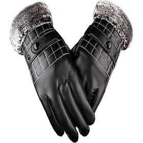 Găng tay da nam thời trang chống nước cảm ứng điện thoại cực nhạy GTDNMM12