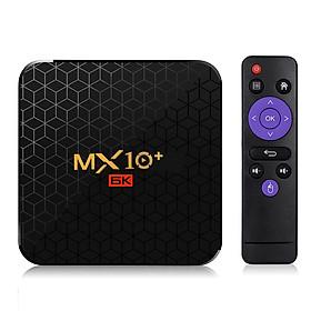 MX10 Plus Smart TV Box Android 9.0 Allwinner H6 UHD 4K Media Player 6K Image Decoding 4GB / 32GB 2.4G / 5G WiFi BT4.0