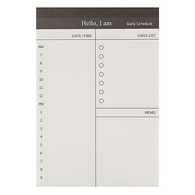 Tập Giấy Note Ghi Chú Kế Hoạch Ngày - Daily Schedule 2 (50 Tờ)