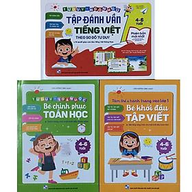 BOMBO: Tập Đánh Vần Tiếng Việt Theo Sơ Đồ Tư Duy - Tư Duy Toán Học Bé Chinh Phục Toán Học - Tâm Thế & Hành Trang Vào Lớp 1 Bé Khởi Đầu Tập Viết
