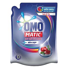 Nước Giặt OMO Matic Bền Đẹp Lựu Và Tre Cho Máy Giặt Cửa Trước (2.3kg/Túi)