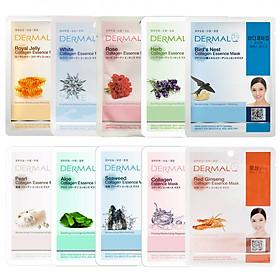 Combo 10 Mặt Nạ Dermal Dưỡng Da Collagen Hàn Quốc (23g) - Mùi Ngẫu Nhiên