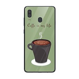 Ốp lưng dành cho điện thoại Samsung Galaxy A in họa tiết Coffee is my life