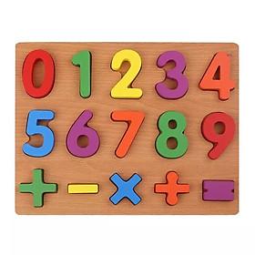 Bảng Học Chữ Số và Phép Tính Nổi Bằng Gỗ