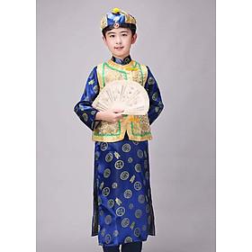 Trang Phục Cổ Trang Trung Quốc Ngũ A Ca Vua Càng Long Của Nhà Thanh Dành Cho Bé Trai
