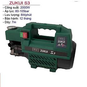 Máy Rửa Xe Zukui S3  Máy Xịt Rửa Cao Áp 2000W Ruột Đồng
