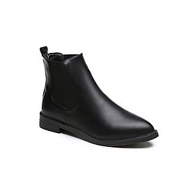 Giày Boot Nữ Chelsea Da PU T56 - Đen