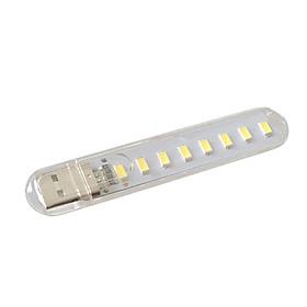 Đèn Đọc Sách Mini Nguồn USB (Trắng) (8 Led)