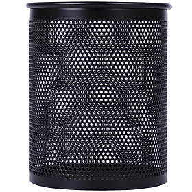 (Deli) 9200 atmospheric metal mesh multi-functional office combination pen holder black