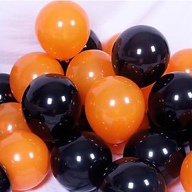 20 bong bóng cao su màu đen và cam trang trí Halloween