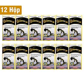 Combo 12 Thực Phẩm Chức Năng Viên Strong Hair Học Viện Quân Y sản xuất (30 Viên/hộp)