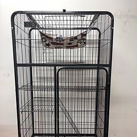 Lồng chuồng mèo nan ống 3 tầng sơn tĩnh điện