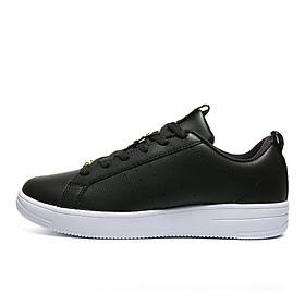 Peak (PEAK) women's board shoes transport casual shoes simple trend culture shoes skateboard shoes white shoes DB940008 black / lemon yellow 38