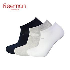 Tất vớ cổ ngắn, chất liệu cotton FREEMAN [Combo 3_SOC20...]