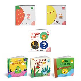 """Combo 06 cuốn  Ehon Nhật Bản """"trò chuyện"""" : Dâu Tây + Gà Con + """"Có một truyện cổ mới"""" : Chiếc Mào Nở Hoa - Cây Tre Rụng Đốt - Quả Để Dành - Ai đẹp nhất cho bé 0 - 6 tuổi"""