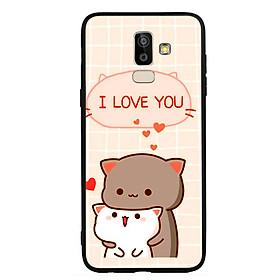 Ốp lưng viền TPU cho điện thoại Samsung Galaxy J8 - I Love U