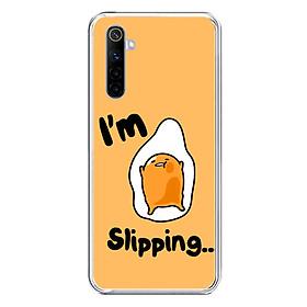 Ốp lưng điện thoại REALME 6 - Silicon dẻo - 0024 LAZYEGG05 - Hàng Chính Hãng