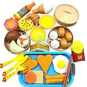 Đồ Chơi Thức Ăn 84 Chi Tiết Cho Bé Nhận Biết Các Món Ăn